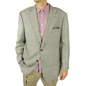 Jos A Bank Mens Blazer Sport Coat Size 46 R Gray